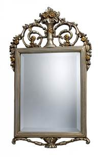 Sterling Stewart Mirror In Antique Silver With Gold  DM1926