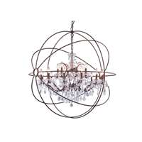 Geneva 18-LT Dark Bronze Chandelier Clear Royal Cut Crystal