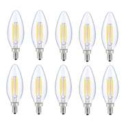 Dimmable LED E12 Blunt Tip Candelabra 10-Pk