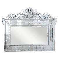 "Venetian 42.5"" Transitional Mirror In Clear"