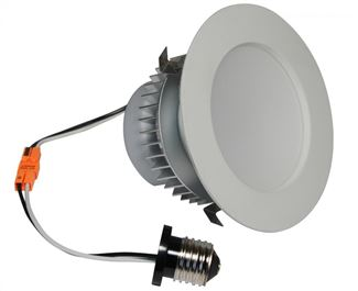 "American Lighting E-PRO 4"" DOWNLIGHT, 2700K, E26 BASE, WH TRIM, 7.5W, 525 LM White EP4-E26-27-WH"