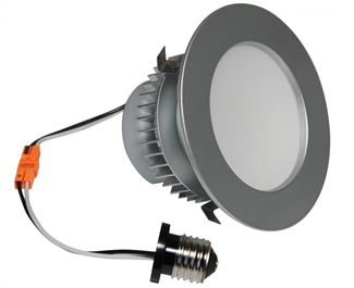 "American Lighting E-PRO 4"" DOWNLIGHT, 3000K, E26 BASE, BS TRIM, 7.5W, 525 LM Brushed Steel EP4-E26-30-BS"