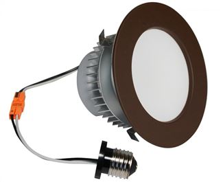 "American Lighting E-PRO 4"" DOWNLIGHT, 3000K, E26 BASE, DB TRIM, 7.5W, 525 LM Dark Bronze EP4-E26-30-DB"