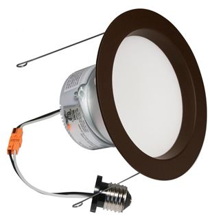 "American Lighting E-PRO 6"" DOWNLIGHT, 2700K, E26 BASE, DB TRIM, 10W, 700 LM Dark Bronze EP6-E26-27-DB"