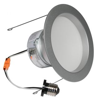 "American Lighting E-PRO 6"" DOWNLIGHT, 3000K, E26 BASE, BS TRIM, 10W, 720 LM Brushed Steel EP6-E26-30-BS"