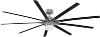 Fanimation FPD8148BN Odyn LED Ceiling Fan, 84-Inch, Brushed Nickel