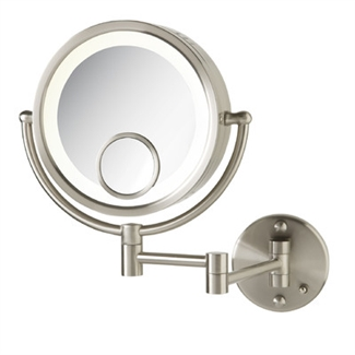 Jerdon Wall Mount Mirror- Satin Nickel HL8515N