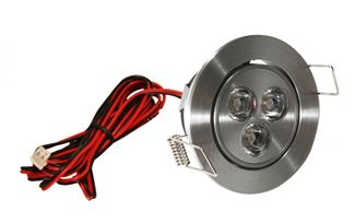 American Lighting LED Mini Swivel Series Satin Aluminum LMS-3-AL