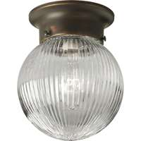 "1-LT Glass Globe 6-3/8"" Close-to-Ceiling"