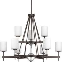 Compass Collection 9-LT, Two-Tier Chandelier