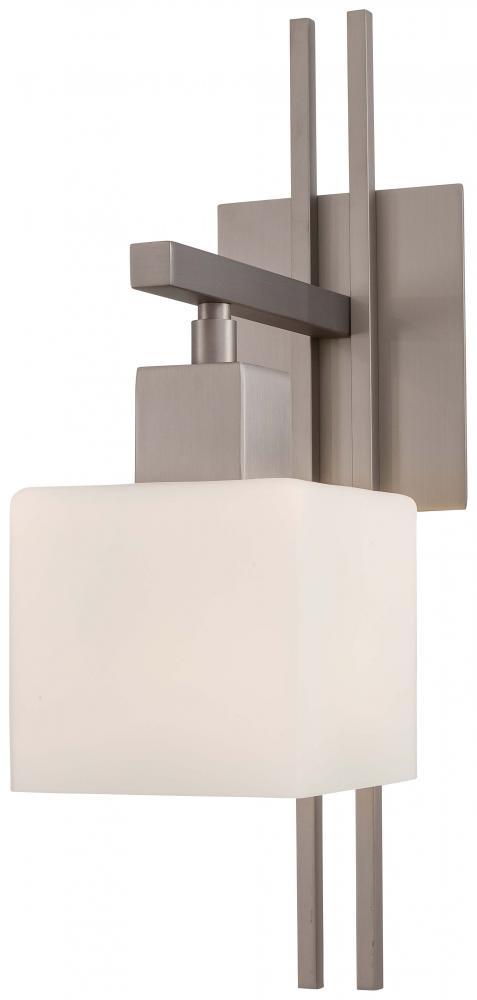 George Kovacs Torii 1 Light Wall Sconce Wetched Opal Glass