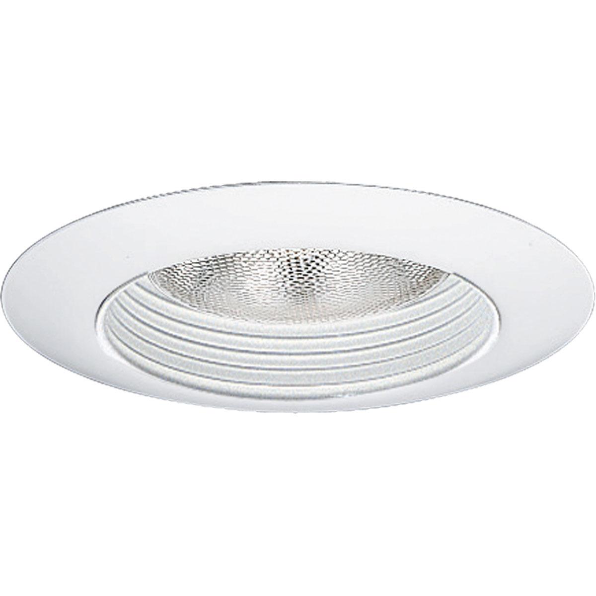 aa16d12e33ce Progress Lighting Recessed Light Step Baffle Trim - White