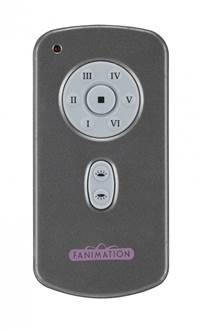 Hand Held Six Speed DC Motor Remote and Transmitter - Charcoal
