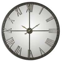 Uttermost Amelie Large Bronze Wall Clock