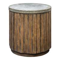 Uttermost Maxfield Wooden Drum Accent Table