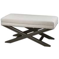 Uttermost Viera White Bench