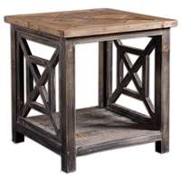 Uttermost Spiro Reclaimed Wood End Table
