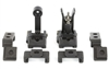 Griffin Armament, M2 Sight Deploy Kit, Front/Rear Folding Sights, Fits Picatinny Rails, Matte Black Finish, Includes 12 O'Clock & 45 Degree Bases