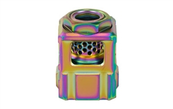 Chaos Gear Supply, Qube Compensator, Rainbow Finish, 1/2X28 Thread Pitch