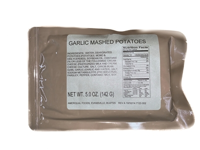 MRE Garlic Mashed Potatoes