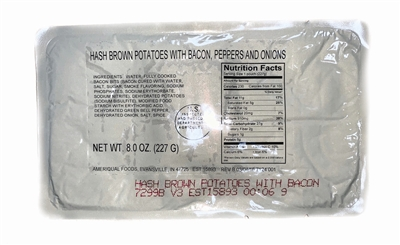 MRE Hashbrowns with bacon