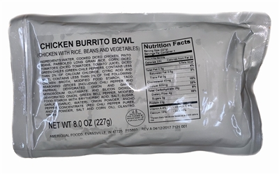 MRE Entree Chicken Burrito Bowl