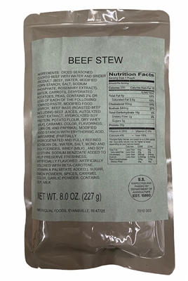 MRE Entree Beef Stew with Vegetables