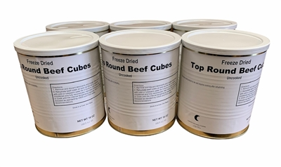 Military Surplus Top Round Beef Cubes
