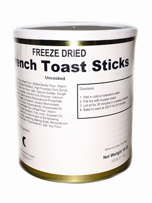Military Surplus Freeze Dried French Toast Sticks
