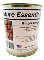 Canned Ginger Snaps. Long Shelf Life.