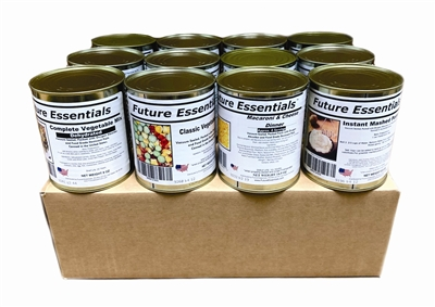 Case (12 Cans) Future Essentials Canned Lunch Variety