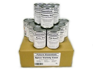 Case (12 Cans) of Future Essentials Canned Spices, Variety Pack