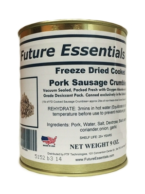 Freeze Dried Pork Sausage