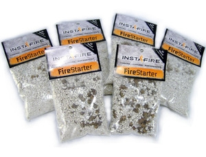 Insta-Fire Water and Wind Resistant Fire Starter - Six (6) Single Use/Half Cup Packets