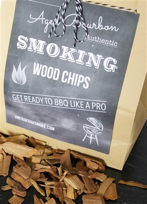 Authentic Bourbon Whiskey Infused Oak Chips