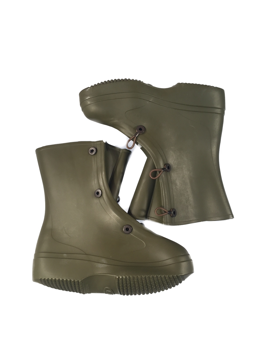 Plastic Vinyl Overboots for NBC suits, Size 8