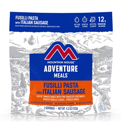 Mountain House Freeze Dried Fusilli Pasta with Italian Sausage
