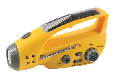 Solar Flashlight Radio