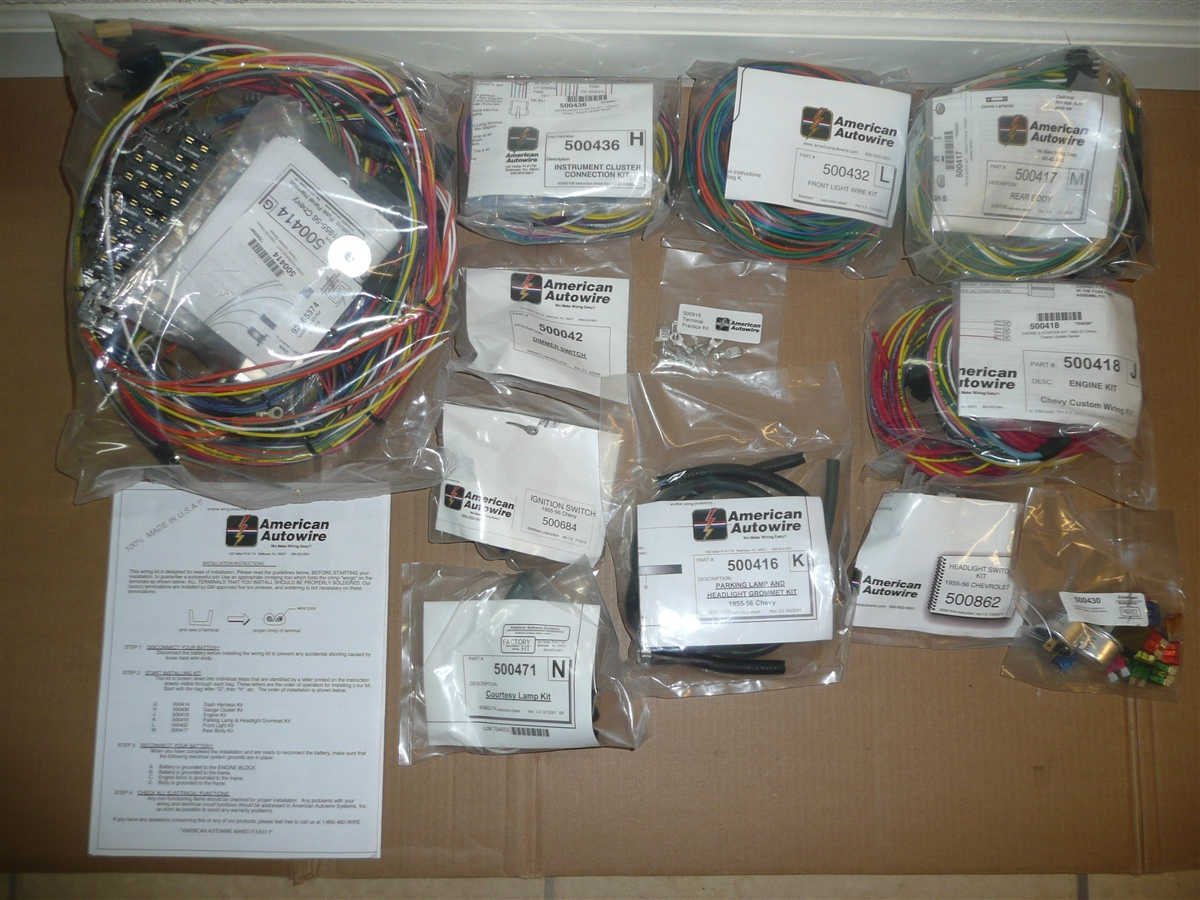 American Autwowire Complete Wiring Kit 1955 1956 Chevy Car Belair Kits Bel Air
