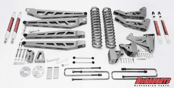 Mcgaughys Ford F  Lift Kit Wd  Lift Phase  Silver Powder Coat