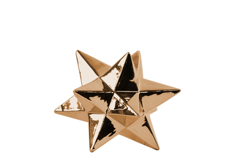 UTC12571 Ceramic 12 Point Stellated Icosahedron Sculpture SM Polished Chrome Finish Copper