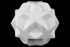 UTC12657 Stoneware Star Ball Figurine Gloss Finish White