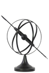 UTC14202 Metal Orb Dyson Sphere Design with Directional Arrow and Pedestal Coated Finish Black