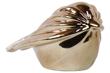 UTC14808 Ceramic Polygonal Swift Bird Figurine Polished Chrome Finish Gold