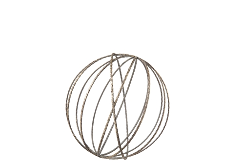 UTC16016 Metal Round Dyson Orb with Sphere in Jute Design SM Tarnish Finish Bronze