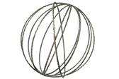 UTC16018 Metal Round Dyson Orb Sphere in Jute Design LG Metallic Finish Black