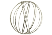 UTC16019 Metal Round Dyson Orb Sphere in Jute Design LG Metallic Finish Champagne