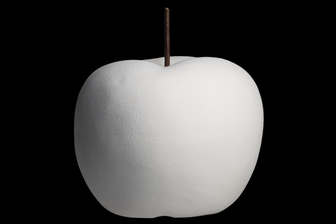 UTC16800 Porcelain Apple Figurine SM Matte Finish White