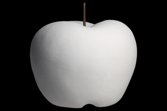 UTC16801 Porcelain Apple Figurine LG Matte Finish White