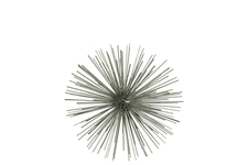 UTC21904 Metal Sea Urchin Ornamental Sculpture Decor MD Coated Finish Champagne